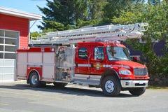 Camión del cuerpo de bomberos voluntario de Tofino Foto de archivo libre de regalías