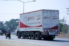 Camión del envase de KCG Fotos de archivo