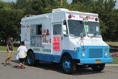 Camión del helado en Flushing Meadows Corona Park fotos de archivo