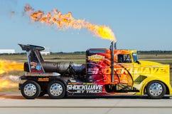 Camión del jet de la onda de choque Foto de archivo libre de regalías