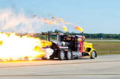 Camión del jet de la onda de choque Fotos de archivo