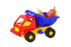 Camión del juguete con las peras. imágenes de archivo libres de regalías