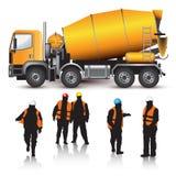 Camión del mezclador concreto Imagen de archivo libre de regalías