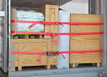 Camión del paquete Fotografía de archivo libre de regalías