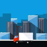 Camión del servicio de entrega Imagen de archivo libre de regalías