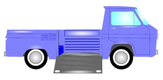 Camión del vintage con las puertas laterales Fotos de archivo libres de regalías