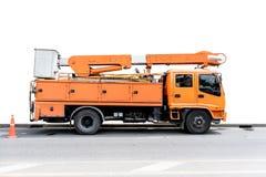 camión eléctrico de los servicios de mantenimiento fotografía de archivo libre de regalías
