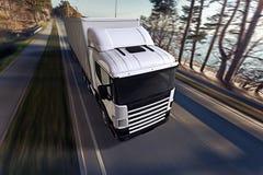 Camión en el camino Imagenes de archivo