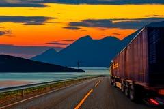 Camión en el camino Foto de archivo libre de regalías