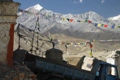 Camión en Lo Manthang fotografía de archivo libre de regalías