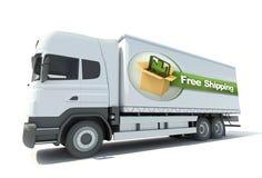 Camión, envío gratis ilustración del vector