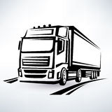 Camión europeo stock de ilustración