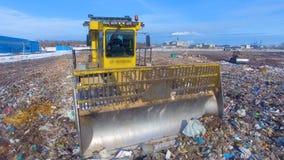 Camión móvil del vertido Concepto de la contaminación de Enviromet almacen de metraje de vídeo