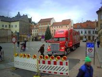 Camión Meissen, Alemania de la Coca-Cola Fotos de archivo libres de regalías
