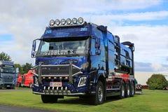 Camión modificado para requisitos particulares del vacío de Volvo FMX de Sjobloms en el camión Sho del poder Fotografía de archivo libre de regalías