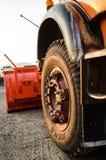Camión parqueado del quitanieves Imágenes de archivo libres de regalías