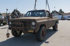 camión Posts-apocalíptico de la supervivencia Foto de archivo libre de regalías