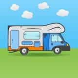 Camión que acampa de rv Imagenes de archivo