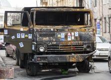 Camión quemado foto de archivo libre de regalías