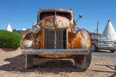 Camión rústico de Route 66 Imagen de archivo