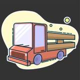 Camión rústico del cargo para las mercancías rápidas de la entrega ilustración del vector