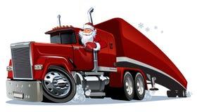 Camión retro de la Navidad de la historieta libre illustration