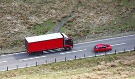 Camión rojo Fotografía de archivo libre de regalías