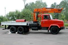 Camión rojo Kraz Fotografía de archivo libre de regalías