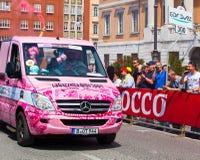 Camión rosado Fotografía de archivo