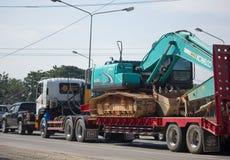 Camión volquete del remolque de Payawan Transport Company Foto de archivo libre de regalías