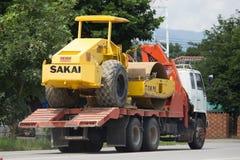 Camión volquete del remolque de STV Civil Transport Company Fotos de archivo