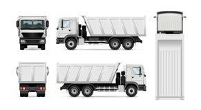 Camión volquete del vector ilustración del vector