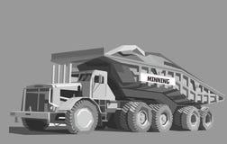 Camión volquete en color gris ilustración del vector