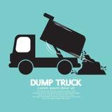 Camión volquete llevado y que descarga el material flojo stock de ilustración