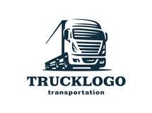 Camión y remolque del logotipo ilustración del vector