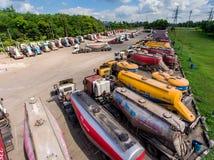 Camión y transporte en mina de carbón Imagen de archivo