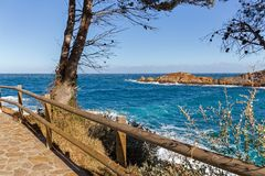 Cami de Ronda, a Coastal Path along Costa Brava Royalty Free Stock Image