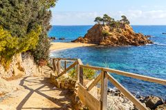 Cami de Ronda, a Coastal Path along Costa Brava. Catalonia stock images