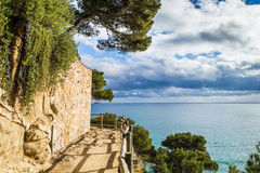 Cami de ronda. Pathway landscape of cami de ronda, calonge, Costa Brava. Spain royalty free stock photo