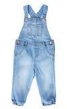 Camice blu del tralicco del bambino del bambino isolato su bianco Immagini Stock Libere da Diritti