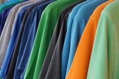 Camice di polo multicolori Fotografia Stock Libera da Diritti