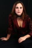 Camicetta del merletto della Borgogna fotografia stock
