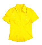 Camicetta gialla fotografie stock