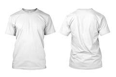 Camicia bianca in bianco isolata Immagini Stock