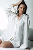 Camicia bianca di XXL Fotografia Stock Libera da Diritti