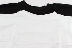 Camicia bianca e nera Immagini Stock Libere da Diritti