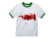 Camicia bianca sporca Fotografia Stock