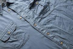 Camicia blu Immagini Stock Libere da Diritti