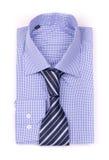 Camicia blu con un legame Immagini Stock