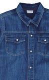 Camicia blu del tralicco Fotografia Stock Libera da Diritti